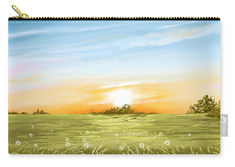 Field Carry-all Pouch featuring the painting Dandelion by Veronica Minozzi