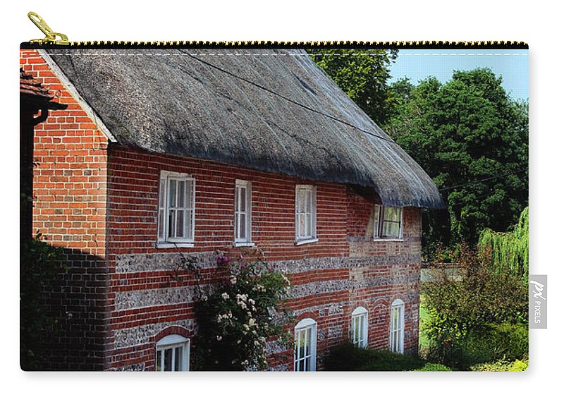 Nether Wallop Carry-all Pouch featuring the photograph Dane Cottage Nether Wallop by Terri Waters