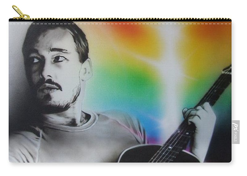 Silverchair Carry-all Pouch featuring the painting Daniel Johns by Christian Chapman Art