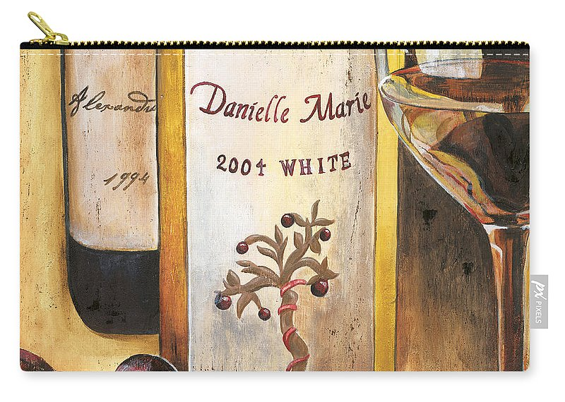 Red Grapes Carry-all Pouch featuring the painting Danielle Marie 2004 by Debbie DeWitt