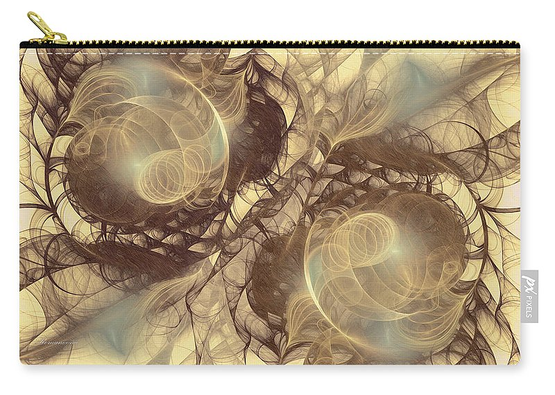 Abstract Carry-all Pouch featuring the digital art Danse Macabre by Georgiana Romanovna