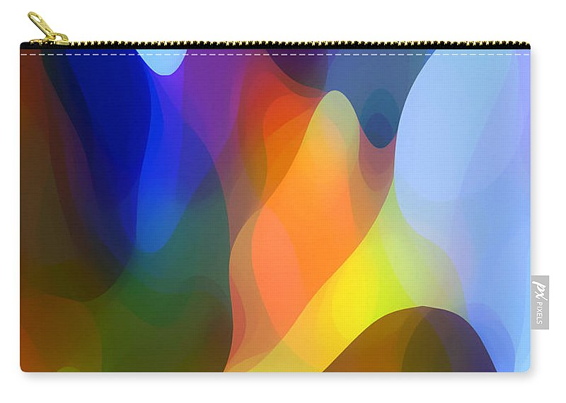 Abstract Art Carry-all Pouch featuring the painting Dappled Light by Amy Vangsgard