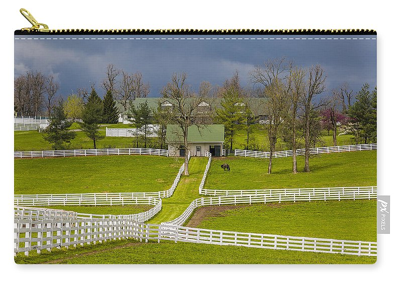 Animal Carry-all Pouch featuring the photograph Darby Dan Farm Ky by Jack R Perry