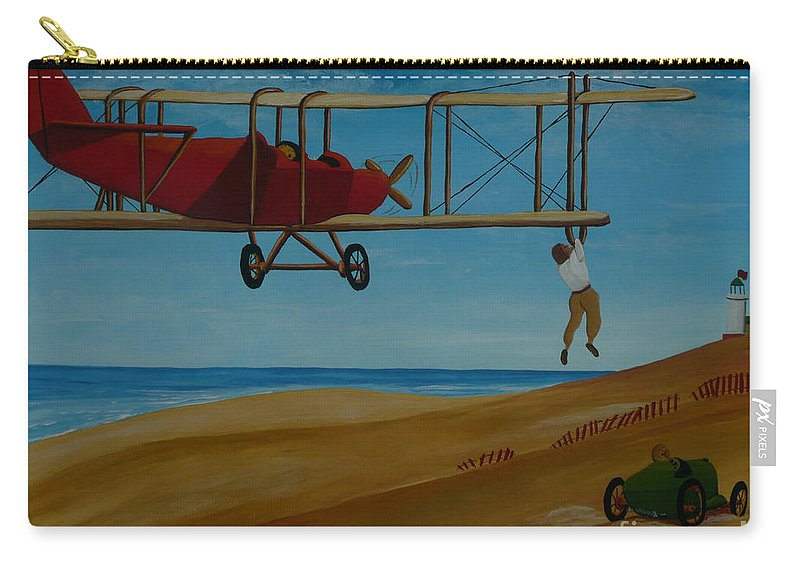Daredevils Carry-all Pouch featuring the painting Daredevils by Anthony Dunphy