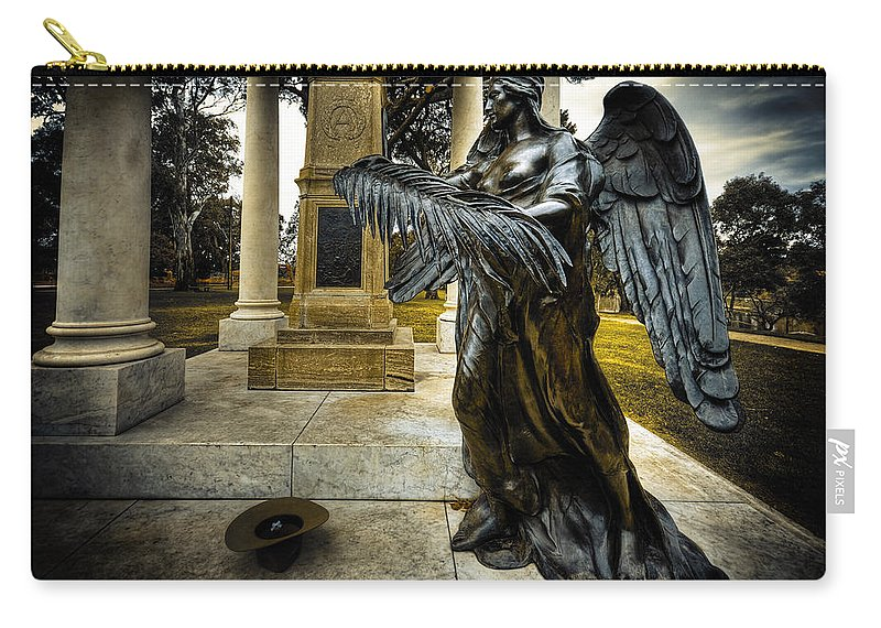 Angel Carry-all Pouch featuring the photograph Dark Angel by Wayne Sherriff