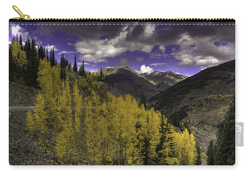 Landscape Carry-all Pouch featuring the photograph Dark Brightness by Bill Sherrell