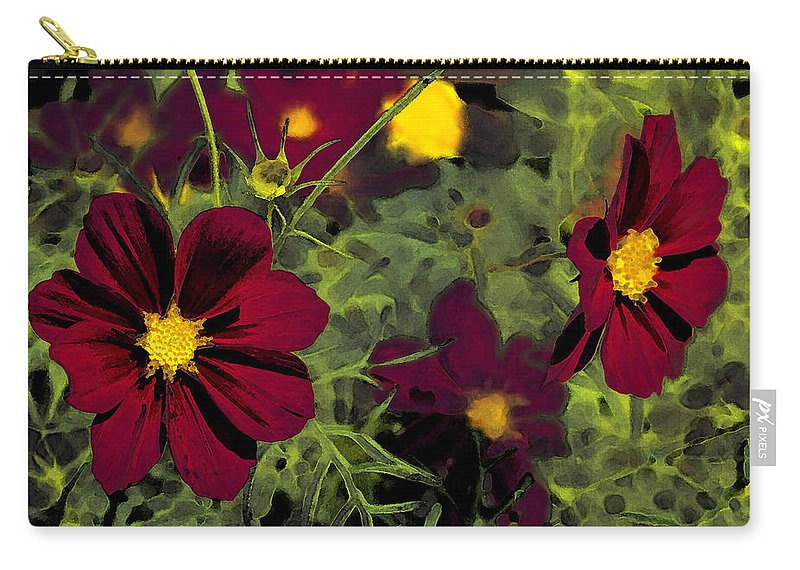 Dark Carry-all Pouch featuring the photograph Dark Coreopsis' by Susan McMenamin