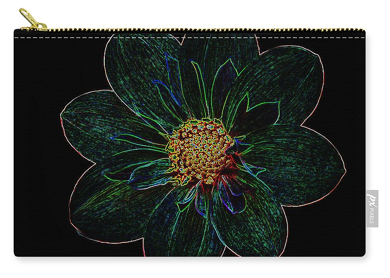 Flowers Carry-all Pouch featuring the photograph Dark Flower 2 by Ben Yassa
