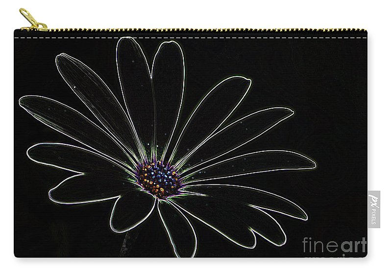 Flower Carry-all Pouch featuring the photograph Dark Flower by Ben Yassa