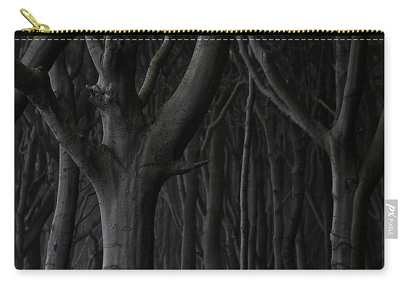 Nature Carry-all Pouch featuring the photograph Dark Forest by Heiko Koehrer-Wagner