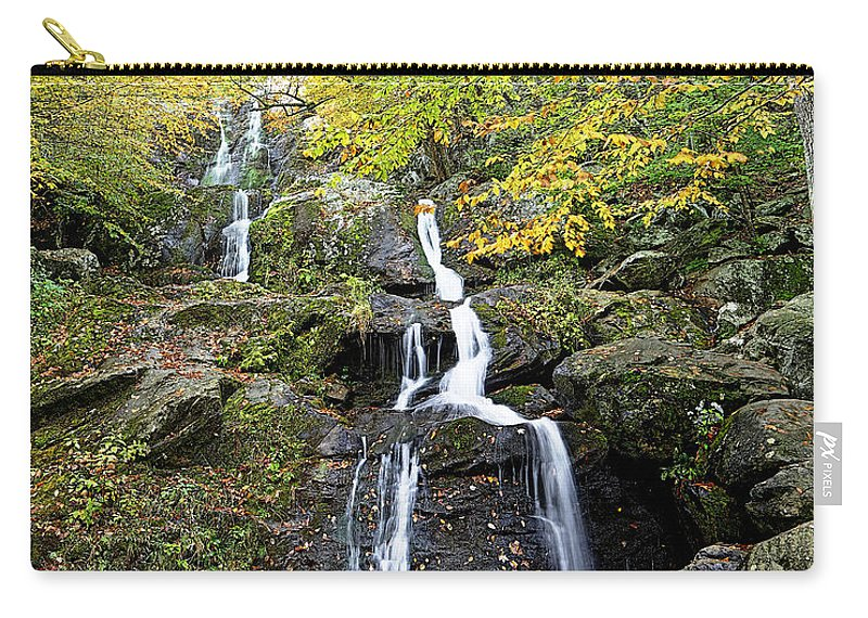 Metro Carry-all Pouch featuring the photograph Dark Hollow Falls by Metro DC Photography