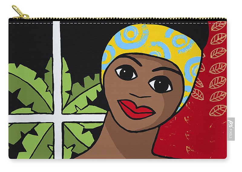 Trudie Canwood Carry-all Pouch featuring the painting Dark Outside by Trudie Canwood