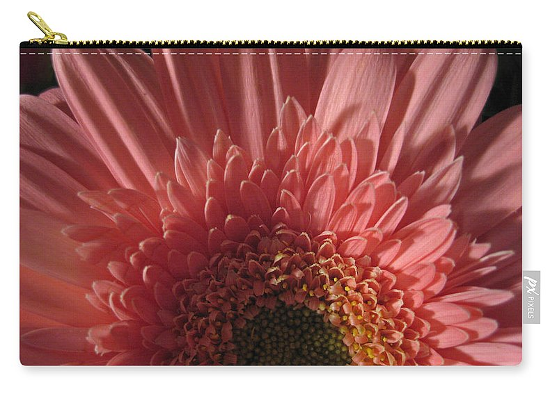 Flower Carry-all Pouch featuring the photograph Dark Radiance by Ann Horn