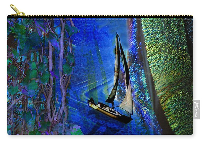 Dark River Carry-all Pouch featuring the digital art Dark River by Lisa Yount