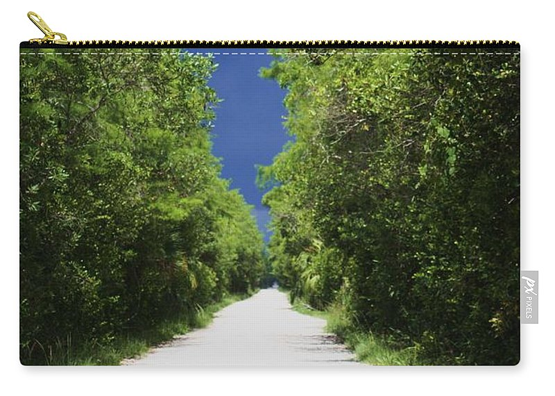 Loop Road Carry-all Pouch featuring the photograph Dark Skies Ahead by Chuck Hicks