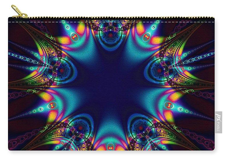 Dark Carry-all Pouch featuring the digital art Dark Star by Kiki Art