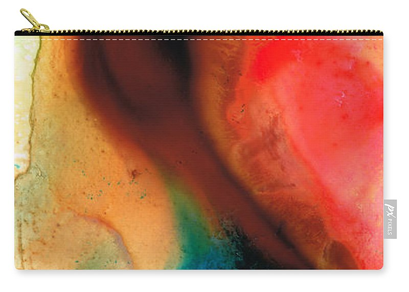 Abstract Carry-all Pouch featuring the painting Dark Swan - Abstract Art By Sharon Cummings by Sharon Cummings