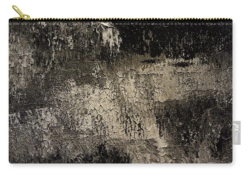 Abstract Carry-all Pouch featuring the painting Darkness Happens by Holton Powell
