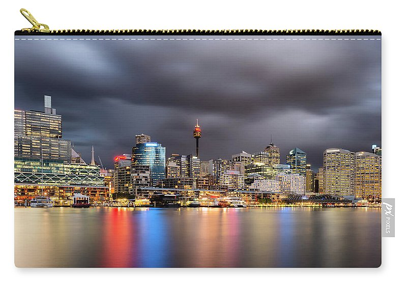 Outdoors Carry-all Pouch featuring the photograph Darling Harbour, Sydney - Australia by Atomiczen