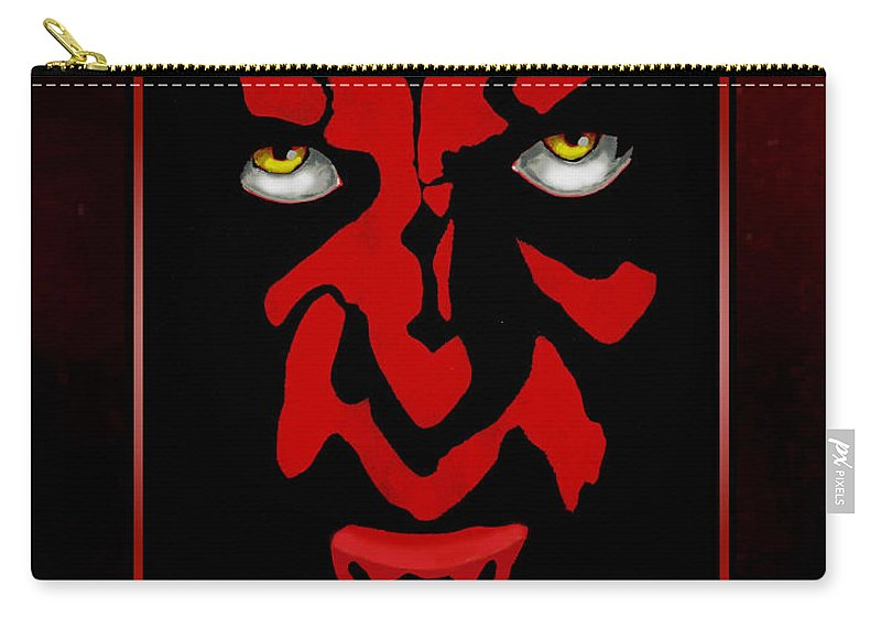 Star Wars Carry-all Pouch featuring the painting Darth Maul by Dale Loos Jr