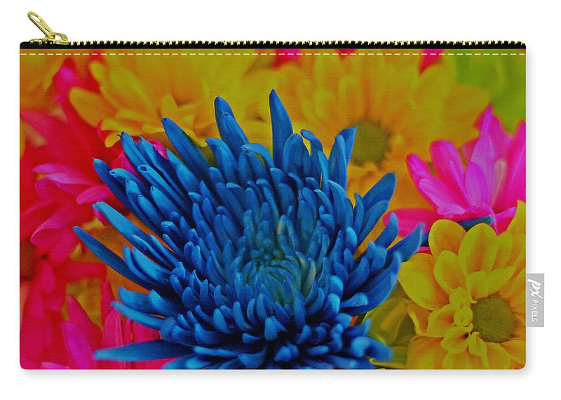 Beautiful Flowers Photograph Carry-all Pouch featuring the photograph Dash Of Blue by Dan Sproul