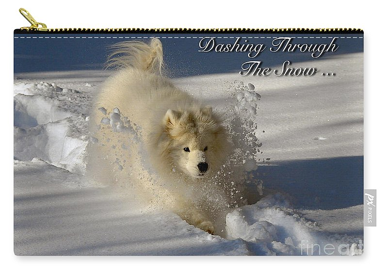 Snow Carry-all Pouch featuring the photograph Dashing Through The Snow by Lois Bryan
