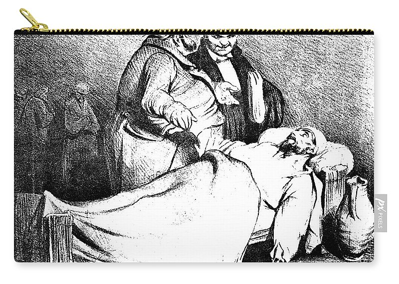 1834 Carry-all Pouch featuring the photograph Daumier: Republican, 1834 by Granger