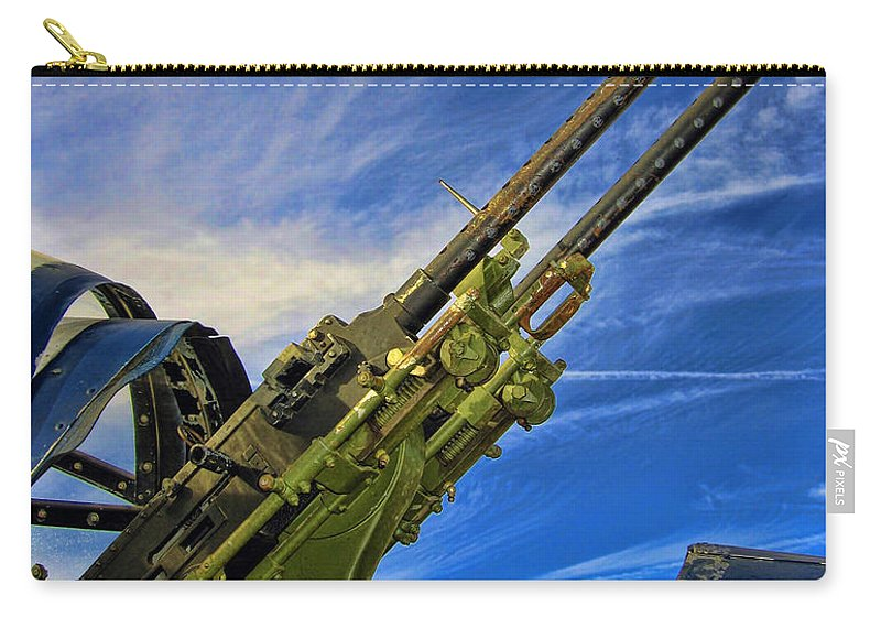 Tail Gun Carry-all Pouch featuring the photograph Dauntless Tail Gun by Dale Jackson