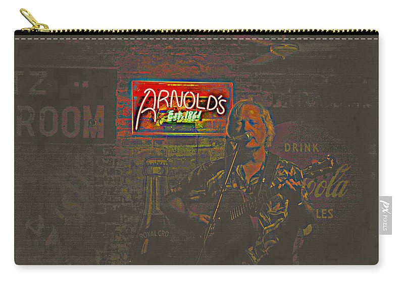 Singer Dave Hawkins Carry-all Pouch featuring the photograph Dave Hawkins Abstract by Kathy Barney