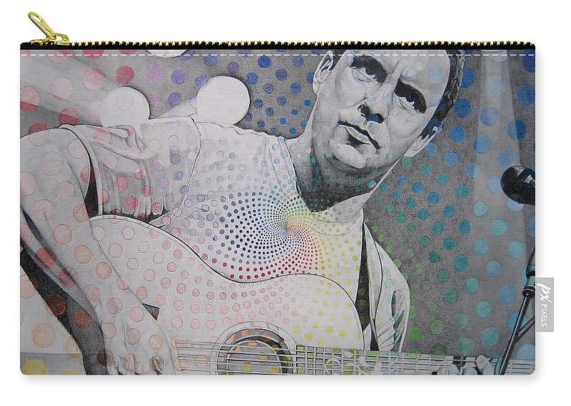 Dave Matthews Carry-all Pouch featuring the drawing Dave Matthews All The Colors Mix Together by Joshua Morton