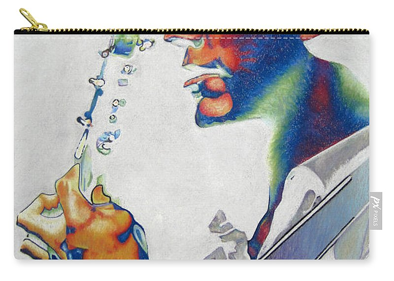 Dave Matthews Carry-all Pouch featuring the drawing Dave Matthews by Joshua Morton