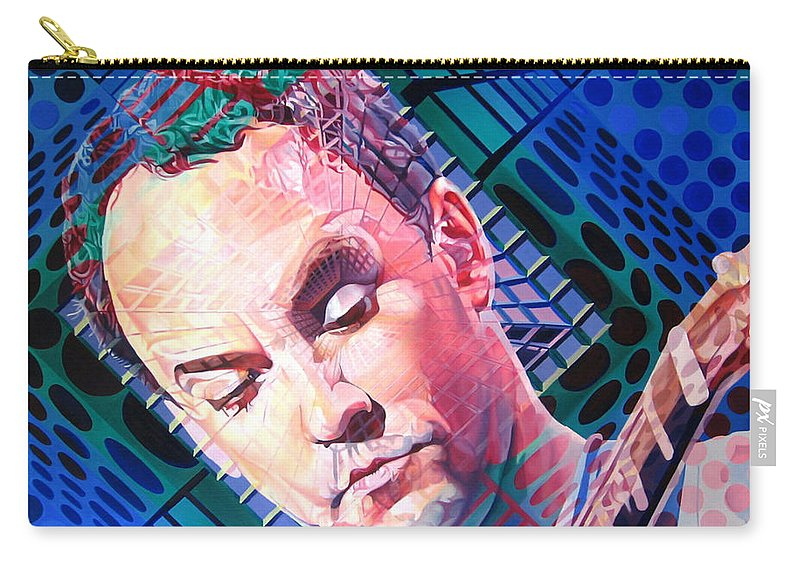Dave Matthews Carry-all Pouch featuring the painting Dave Matthews Open Up My Head by Joshua Morton