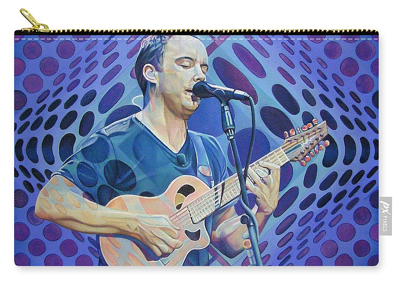 Dave Matthews Carry-all Pouch featuring the drawing Dave Matthews Pop-op Series by Joshua Morton