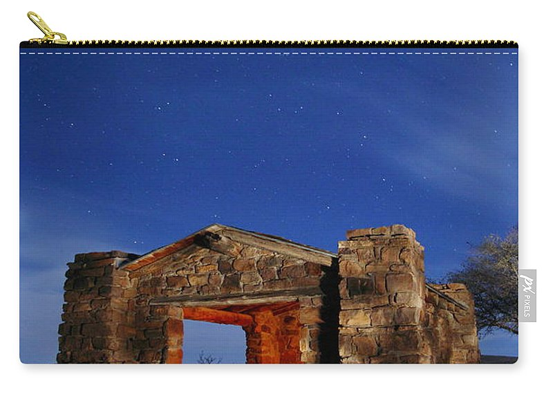 Davis Mountains State Park Carry-all Pouch featuring the photograph Davis Mountains State Park 2am-114647 by Andrew McInnes