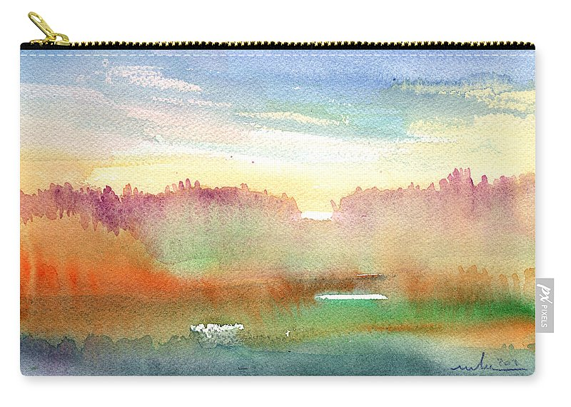 Dawn Carry-all Pouch featuring the painting Dawn 43 by Miki De Goodaboom