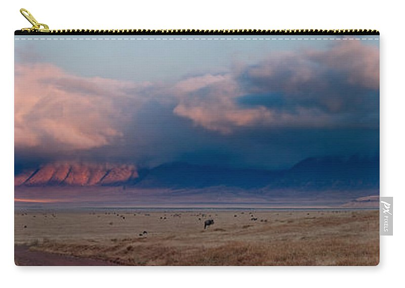 3scape Carry-all Pouch featuring the photograph Dawn In Ngorongoro Crater by Adam Romanowicz