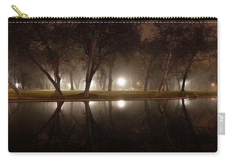 Dawn Carry-all Pouch featuring the photograph Dawn Mist Rising At Sycamore Pool by Abram House