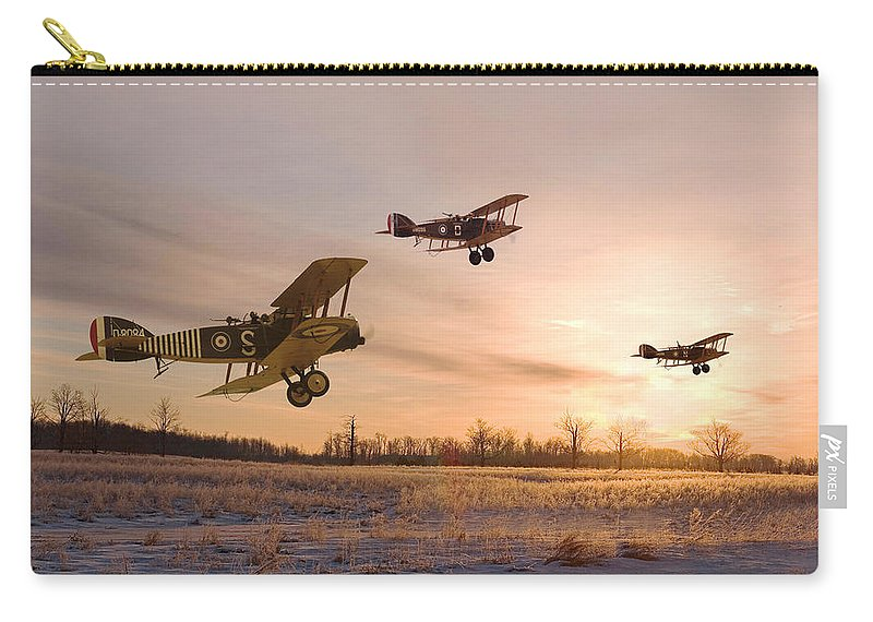 Aircraft Carry-all Pouch featuring the digital art Dawn Patrol by Pat Speirs