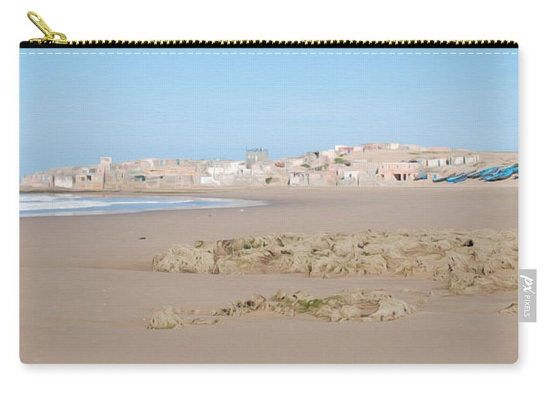 Agadir Carry-all Pouch featuring the photograph Day At The Moroccan Fishing Village by Tracy Winter