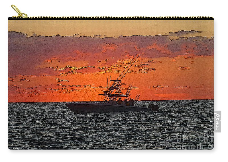 Sportfishing Carry-all Pouch featuring the photograph Day Break by Carey Chen