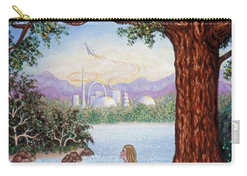 Landscape Carry-all Pouch featuring the painting Day Dreams by Linda Mears