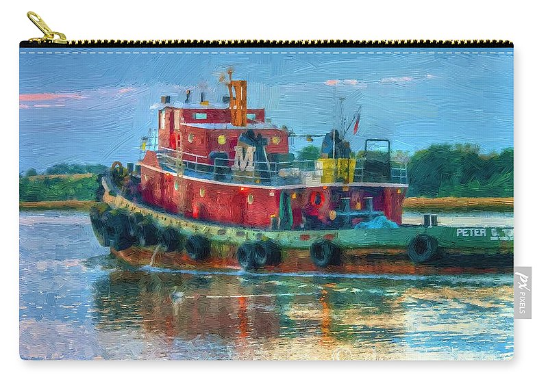 Boats Art Carry-all Pouch featuring the photograph Fine Day In Savannah by Dennis Baswell
