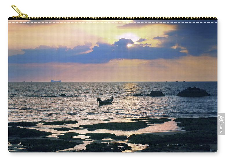Thailand Carry-all Pouch featuring the photograph Day's End by A Rey