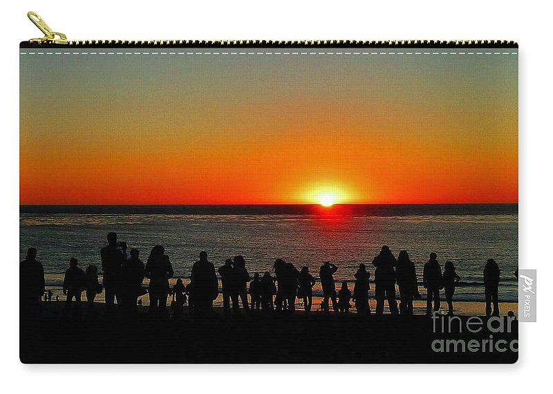 Sunset Carry-all Pouch featuring the photograph Days End by Kris Hiemstra