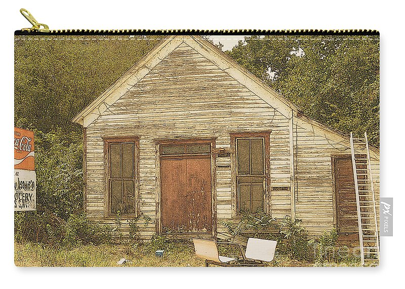 Old Restaurant Carry-all Pouch featuring the photograph Days Gone By by Lydia Holly