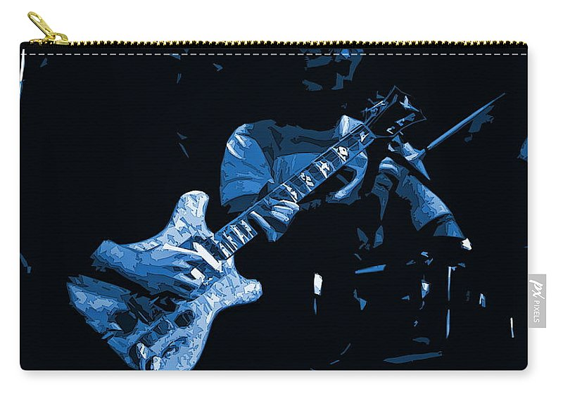 Grateful Dead Carry-all Pouch featuring the photograph Dead #19 Art In Blue by Ben Upham
