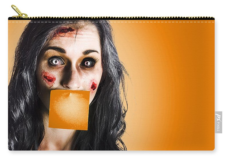 Board Carry-all Pouch featuring the photograph Dead Tired Worker Sick From Hard Work by Jorgo Photography - Wall Art Gallery
