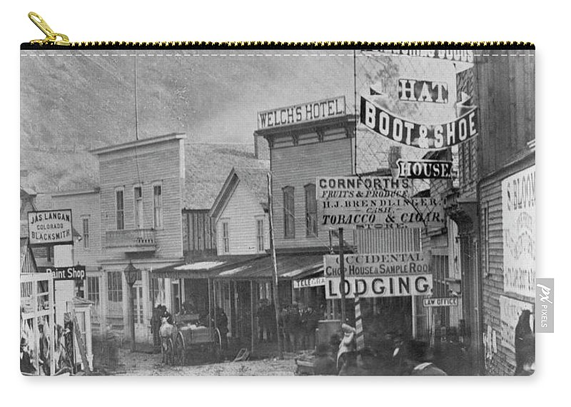 1877 Carry-all Pouch featuring the photograph Deadwood, South Dakota by Granger