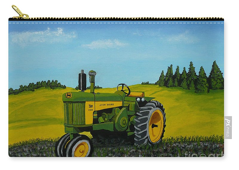 John Deere Carry-all Pouch featuring the painting Dear John by Anthony Dunphy