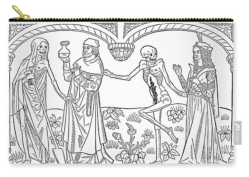 1490 Carry-all Pouch featuring the photograph Death - Doctor And Lover by Guyot Marchand